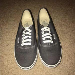 vans authentic charcoal grey